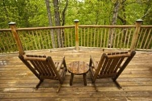 secluded Gatlinburg cabin with a private deck