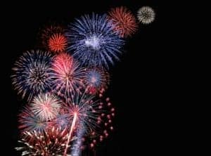 A July 4th fireworks display near our cabins for rent in Gatlinburg and Pigeon Forge TN.