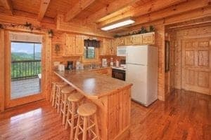 gatlinburg cabin rentals kitchen