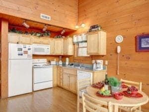 majestic view cabin kitchen