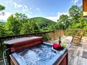 paradise cabin hot tub