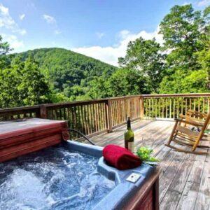 hot tub cabin