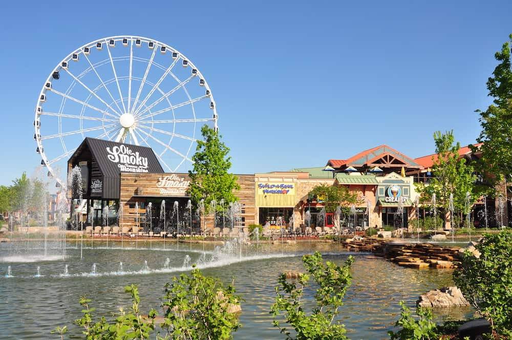 the island wheel and fountain
